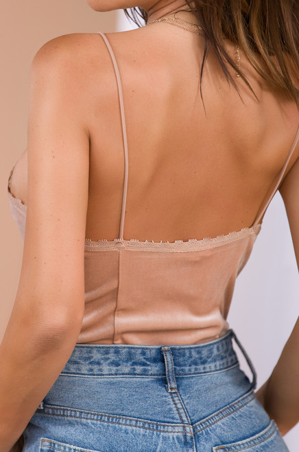 Luxe Be a Lady Top - Nude