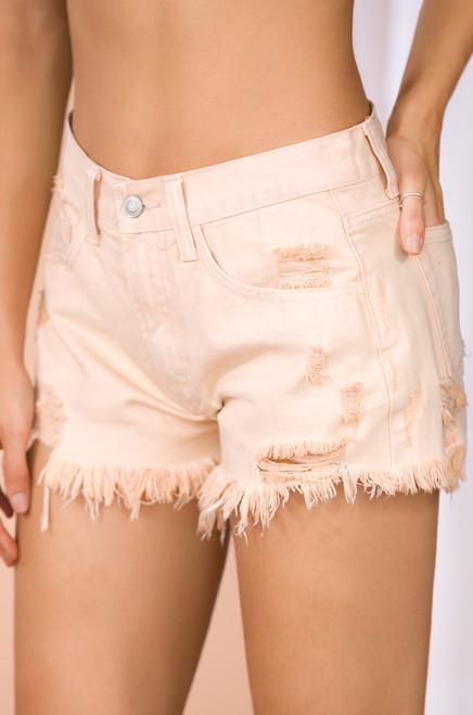 High Sierra Denim Shorts - Nude