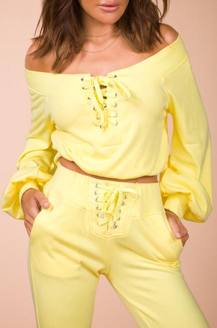 All-Star Crop Sweatshirt - Yellow
