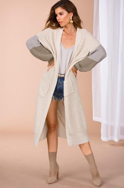 Keep it Simple Cardigan - Nude