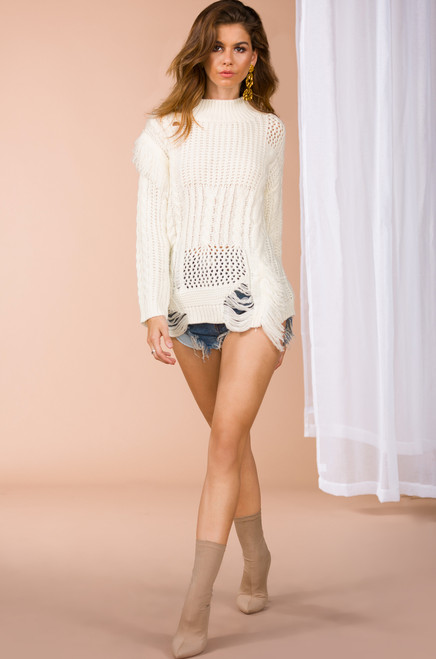 Simplicity is Sweetest Sweater - Ivory