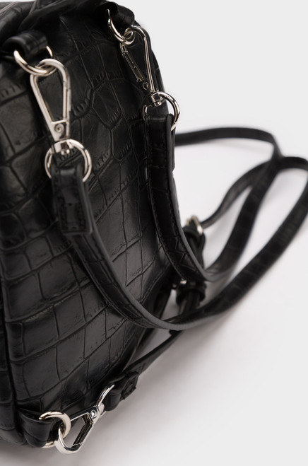 Modern Luxe Mini Backpack - Black