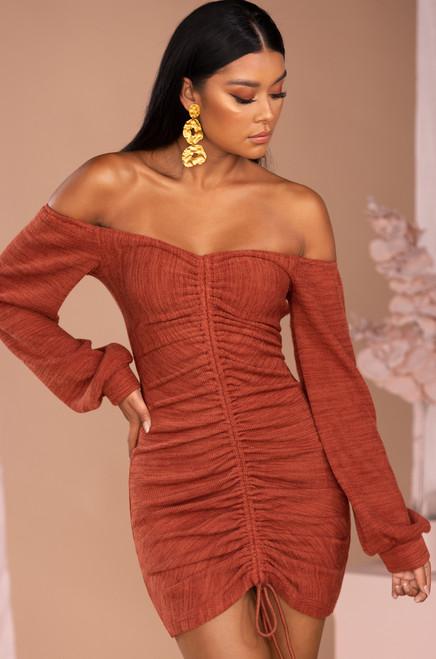 Length of Love Dress - Rust