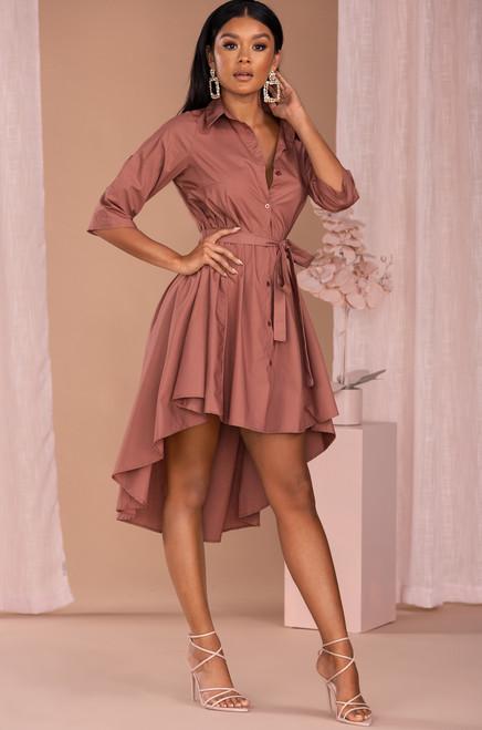 Love Me for Me Dress - Mauve
