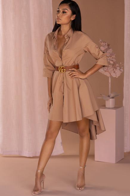 Love Me For Me Dress - Mocha