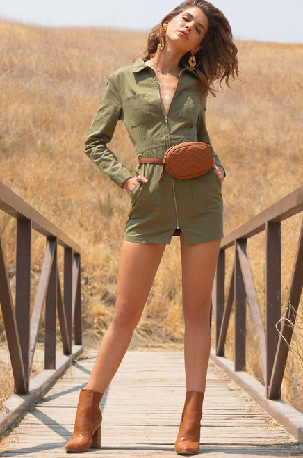 Utilize This Dress - Olive