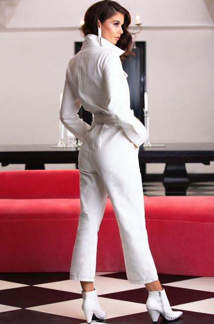 Start A Riot Jumpsuit - White