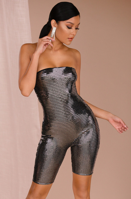 Queen Of The Glammed One Piece - Silver