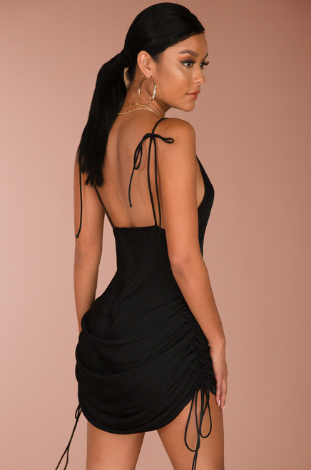 Don't Pull Away Dress - Black