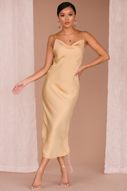 Don't Pull Away Dress - Nude