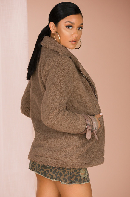 Luxe Ride Jacket - Taupe