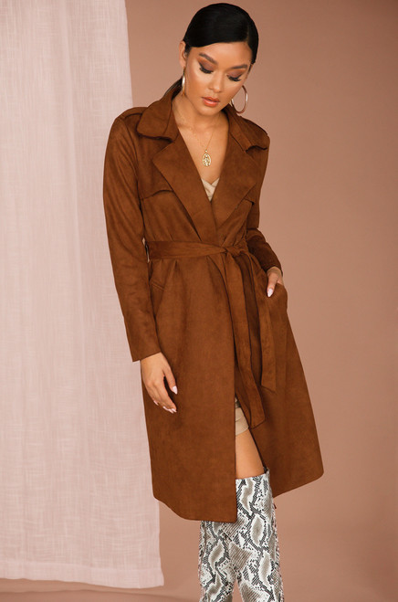 Don't Hate On Me Coat - Chestnut