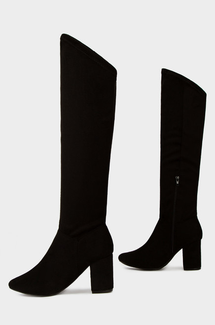 Tall Order - Black Suede