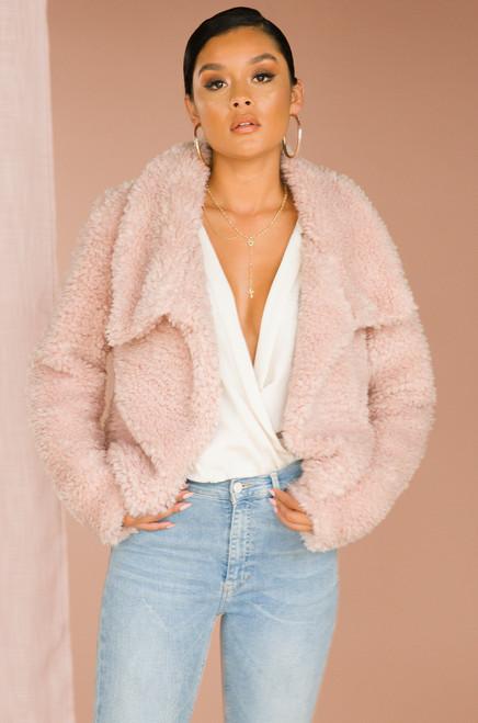 A Lush Rush Coat - Blush