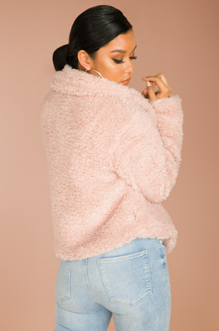 A Lush Rush Coat - Blush