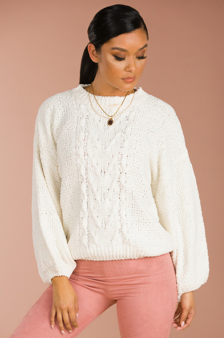 Reel 'Em In Sweater - Ivory