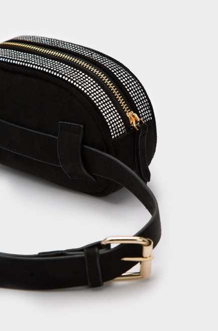 Solitaire Belt Bag - Black