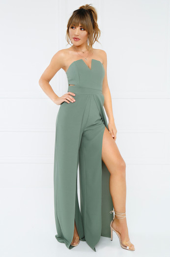 Purely You Jumpsuit   Olive by Lola Shoetique