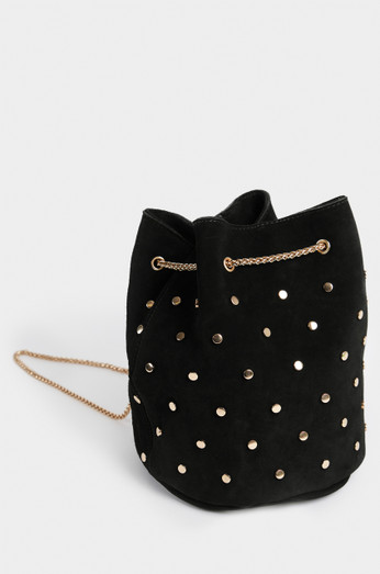 Brea Bucket Bag   Black by Lola Shoetique