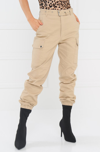 Style & Go Cargo Jogger Pant   Nude by Lola Shoetique