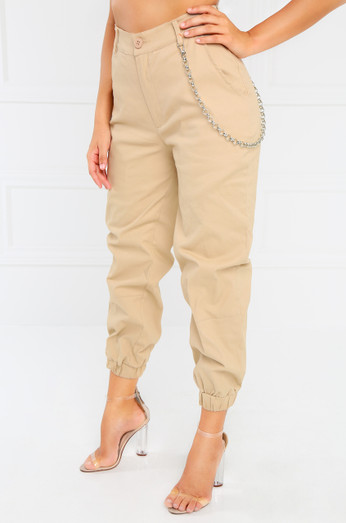Outcast Crop Pant   Nude by Lola Shoetique