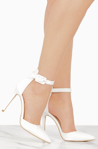 First Like   White Patent by Lola Shoetique