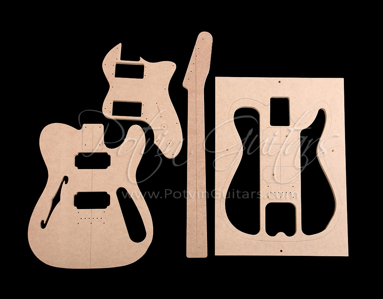 T-Style Thinline Template Set ('72 Style)