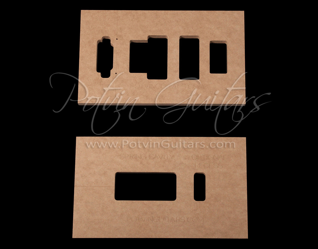 Floyd rose recessed routing template set potvin guitars for Floyd rose routing template