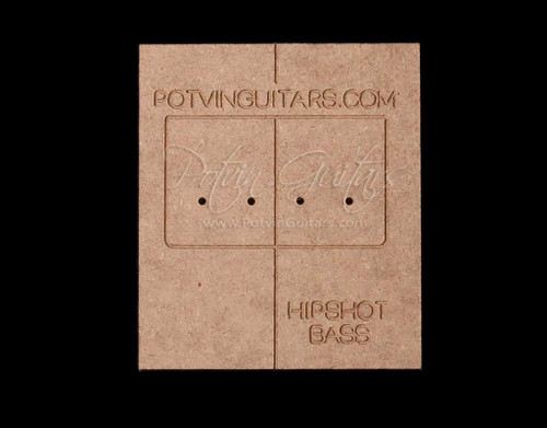Hipshot 4 String Bass Bridge Drilling Guide