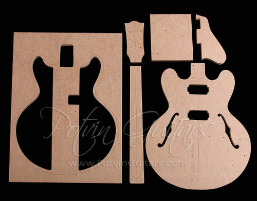 335-Style bolt-on neck archtop guitar template set