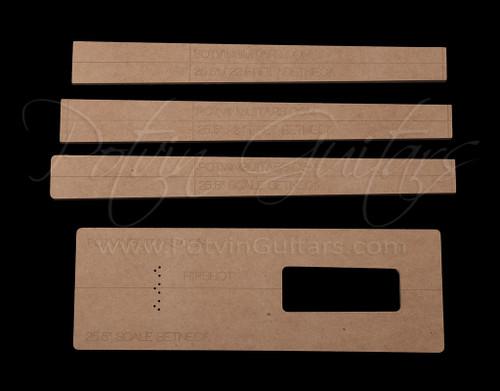 Set neck template kit 22 & 24 frets