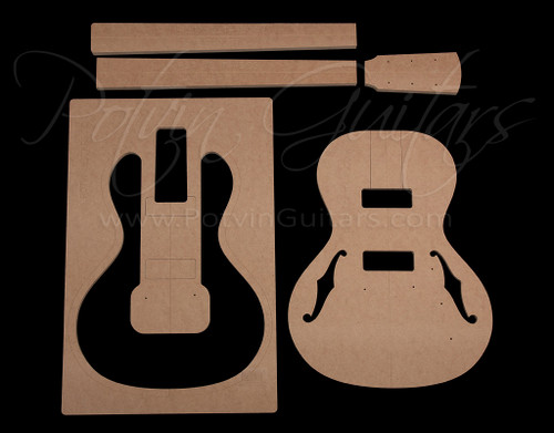 Parlor Electric guitar template set