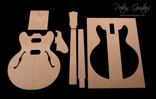 335 style archtop template set potvin guitars for Les paul top carving template