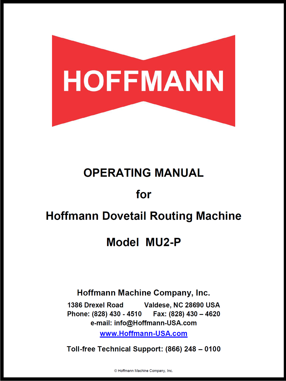 Tech manual cover page good owner guide website operating manual for hoffmann mu 2routing machine rh hoffmann usa com manual cover designs handbook cover page maxwellsz