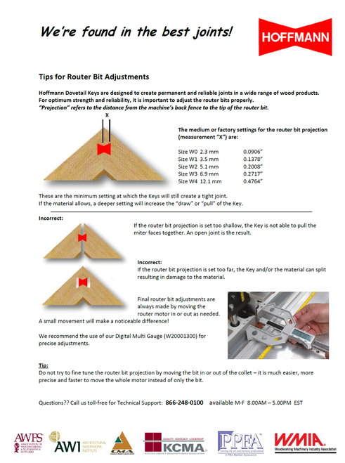 Tips for Router Bit Adjustments