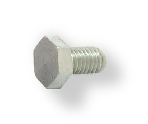 Hex Head Screw, steel finish.  With machined head surface for precise transfer of clamping pressure.