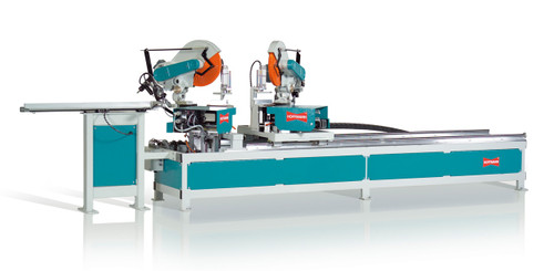 Hoffmann MX-2 double end miter saw with integrated dovetail routing stations