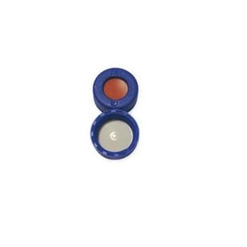 9mm AVCS Blue Screw Cap, PTFE/Red Rubber