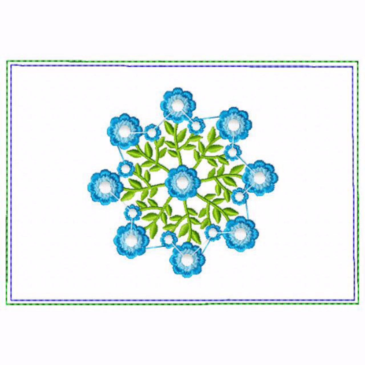 In The Hoop Machine Embroidery Design Circle Of Flower Small Money