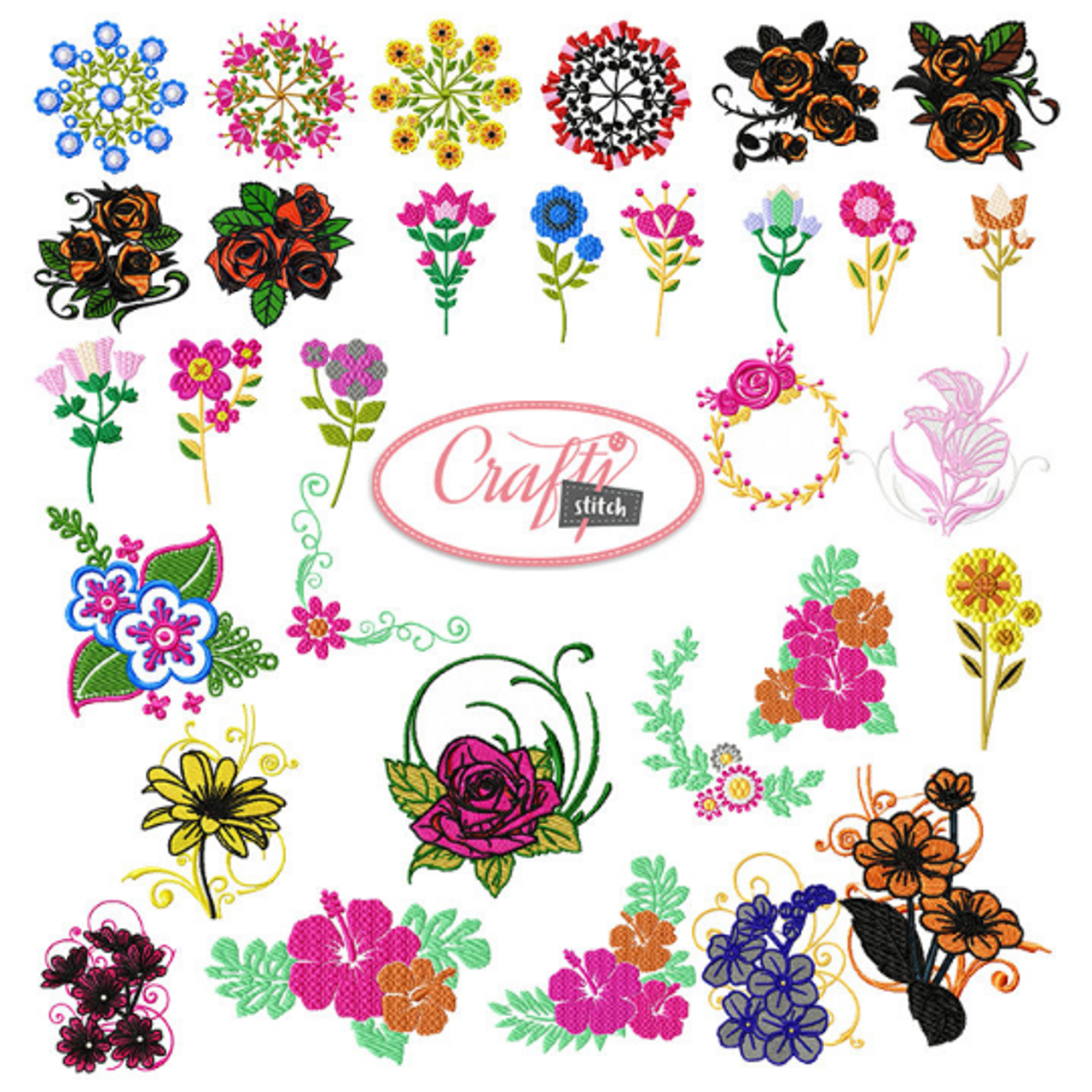 Machine Embroidery Designs 4x4 Hoop Flower Special 65 Floral