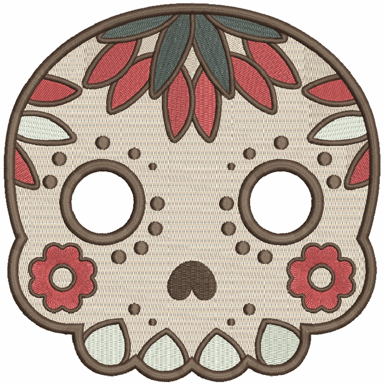 Machine Embroidery Design Sugar Skull Collection 08