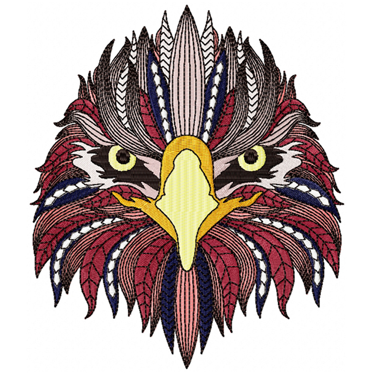 machine embroidery design detailed eagle face b collection. Black Bedroom Furniture Sets. Home Design Ideas