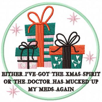 Christmas Spirit or the Doctor Humor - Christmas Humor Booze #01 Machine Embroidery Design