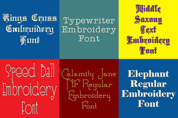 20 PES Font Bundle - Volume 3 - 20 Machine Embroidery Fonts