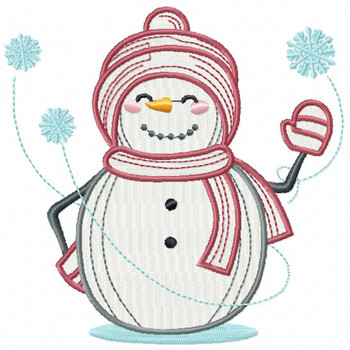 Hi Snowman - Snowman #11 Machine Embroidery Design