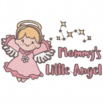 Mommy's Sweet Little Angel - Little Angels Typography #06 Machine Embroidery Design