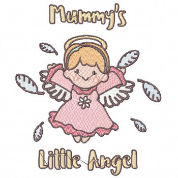Joyful Mummy's Little Angel - Little Angels Typography #07 Machine Embroidery Design