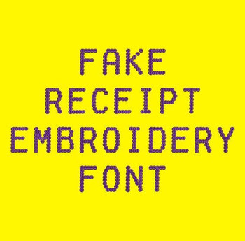 Fake Receipt Machine Embroidery Font Now Includes BX Format!