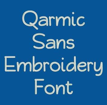 Qarmic Sans Machine Embroidery Font Now Includes BX Format