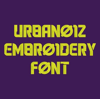 Urbanoiz Machine Embroidery Font Now Includes BX Format!